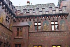 城镇厅的内部的片段在巴塞尔 库存图片