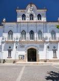 城镇厅的门面Sertorio广场的  埃武拉 Portuga 库存照片