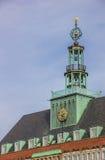 城镇厅的细节在埃姆登的中心 图库摄影