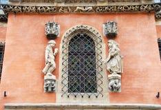 城镇厅窗口在弗罗茨瓦夫 库存图片