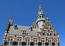 城镇厅,世界遗产在城市弗拉讷克 免版税库存照片