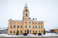 城镇厅,哈米纳,芬兰门面  库存图片
