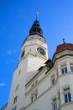 城镇厅,奥帕瓦河,捷克/Czechia 免版税库存照片
