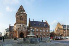 城镇厅,罗斯基勒 免版税库存照片