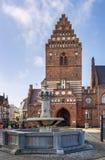 城镇厅,罗斯基勒 库存图片