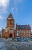 城镇厅,罗斯基勒 免版税库存图片