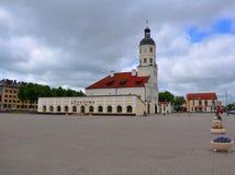 城镇厅 涅斯维日,白俄罗斯 免版税图库摄影