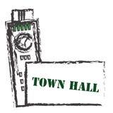 城镇厅 库存图片