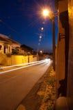 城镇在晚上之前 库存图片