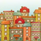 城镇背景 免版税库存图片