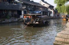 城镇视图水xitang 免版税库存照片