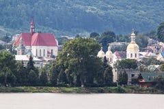 城镇Berezhany的全景。 库存照片
