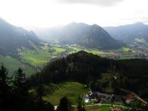 从城镇Falkenstein的wiev 免版税库存图片