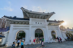 城镇Kai Sek纪念堂门  库存照片