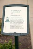 费城,美国- 2013年6月12日:乔治・华盛顿纪念碑在费城 雕象在1897年设计的由吕多尔夫 库存图片
