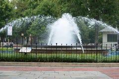 费城,美国- 8月12日:富兰克林广场在2017年8月12日的中心城市费城 库存图片