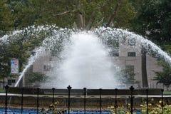 费城,美国- 8月12日:富兰克林广场在2017年8月12日的中心城市费城 免版税库存图片