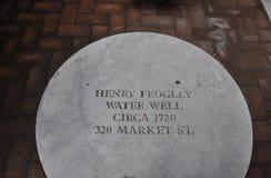 费城, 8月4日:水井古老从费城在宾夕法尼亚 免版税库存照片