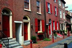 费城, PA :Elfreth的胡同 免版税图库摄影
