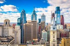费城, Pennyslvania,美国地平线 库存照片