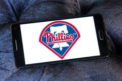 费城费城人棒球队商标 库存图片