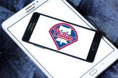 费城费城人棒球队商标 库存照片