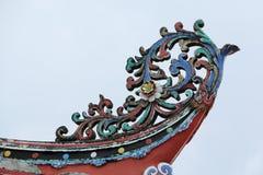 城Hoon滕国寺庙装饰的屋顶在马六甲 图库摄影