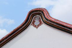 城Hoon滕国寺庙装饰的屋顶在马六甲 免版税库存图片