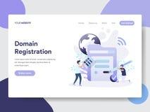 域名登记例证概念登陆的页模板  网页设计的现代平的设计观念网站的和 库存例证
