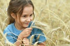 域女孩少许麦子 库存照片