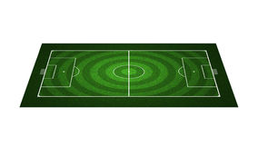 域橄榄球透视图 图库摄影