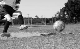域球员足球 库存图片