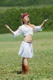 域的乌克兰女孩 免版税库存照片