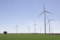 域草绿色涡轮风 图库摄影