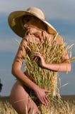 域麦子妇女 库存图片