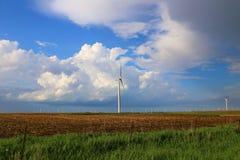 域绿色涡轮风 库存图片