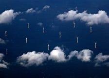 域绿色涡轮风 库存照片