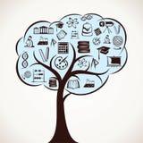 培训图标结构树 图库摄影