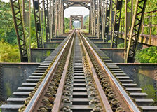 培训的钢桥梁 免版税图库摄影