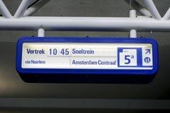 培训的阿姆斯特丹信息 免版税库存图片