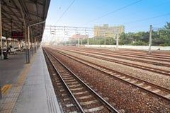 培训铁路运输 免版税库存图片