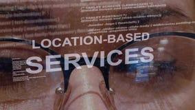 基于地点的服务在女性开发商背景发短信  股票录像