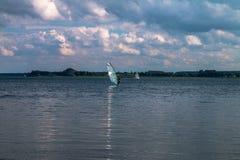 基于波兰湖 库存照片