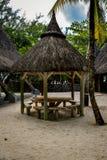 基于的小屋印度洋岸  免版税库存图片