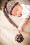 新出生的男婴 免版税库存照片