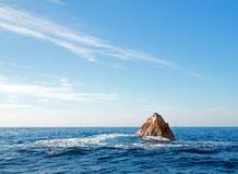 """基于""""the Pointâ€土地Los卡约埃尔考斯End† 或""""Pinnacle的加利福尼亚海狮在Cabo圣卢卡斯在巴哈墨西哥 免版税库存照片"""