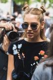 基亚拉摆在米兰时尚星期期间的Ferragni 免版税库存照片