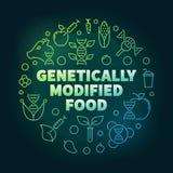 基因上修改过的食物传染媒介种族分界线例证 库存例证