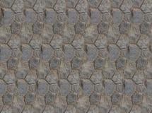 基地折叠了六角石头瓦片墙壁片段正方形对称纹理 免版税库存图片