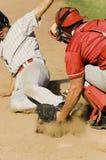 基地的棒球运动员 免版税库存图片